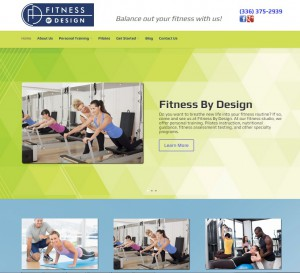 fitness by design new website